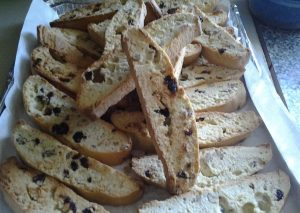 Yummy cranberry n almond biscotti.made by Rosie.