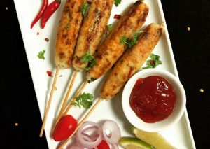 Curd Rice Seekh Kebab
